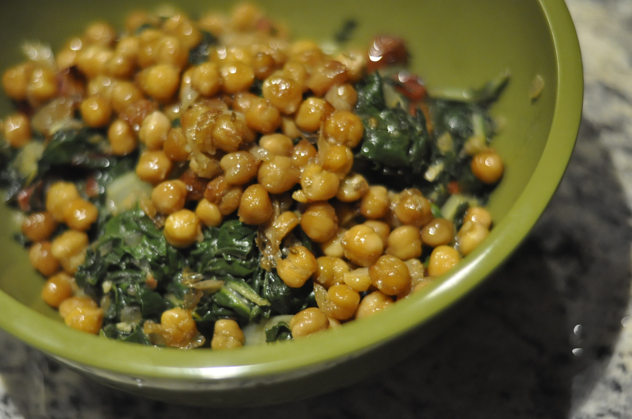 Roasted Garbanzo Beans and Garlic with Rainbow Chard | Cultivating ...