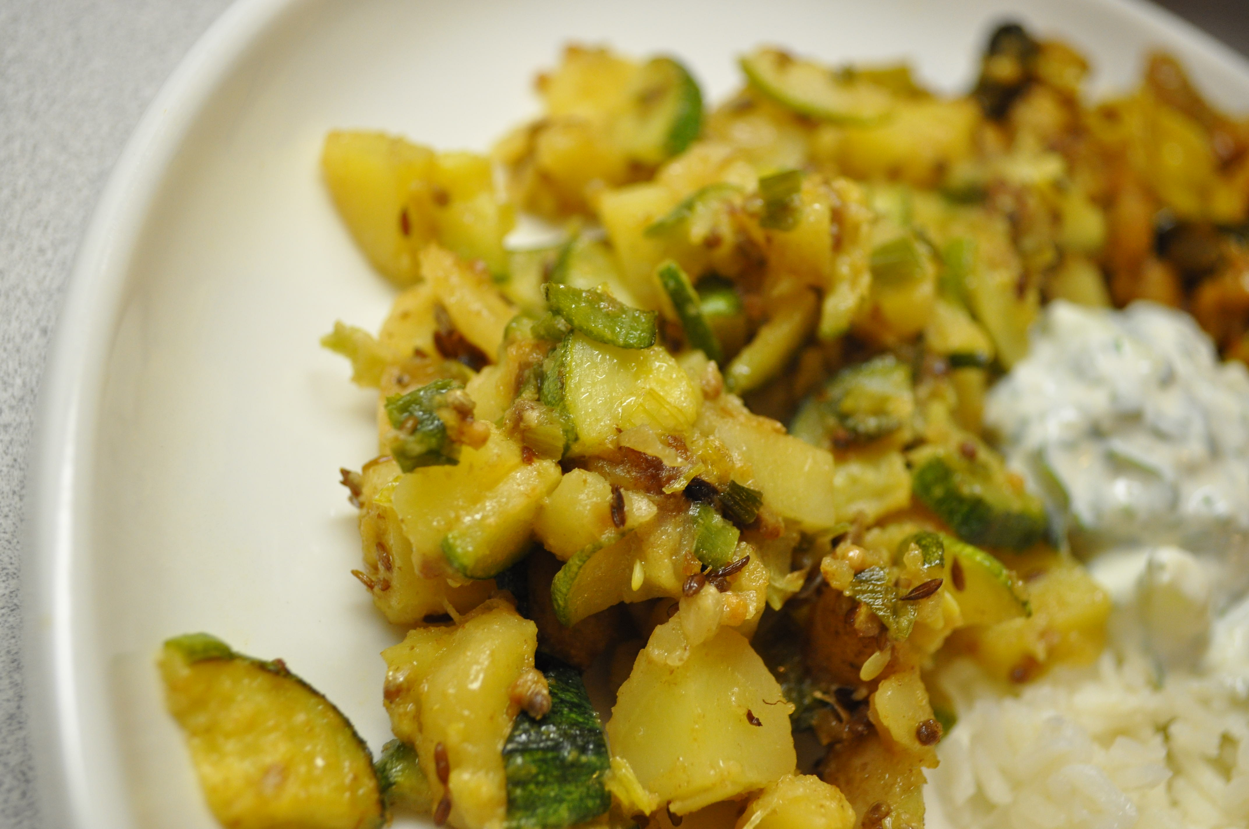 Zucchini potato sabzi cultivating sustainability this simple indian forumfinder Choice Image